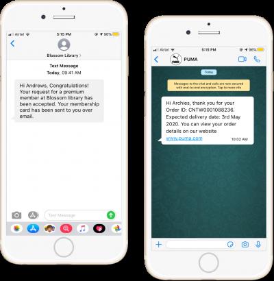 SMS & WhatsApp Notification