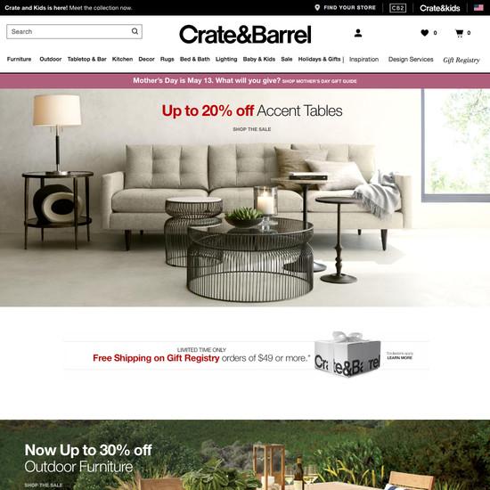 Crate & Barrel website