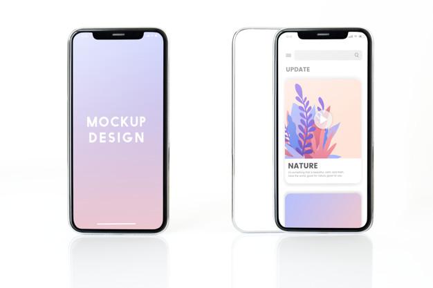 Full screen smartphone mockup design - upshot.ai